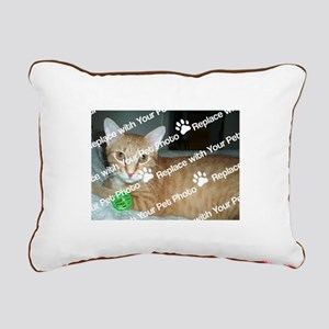 CUSTOM Your Pet Photo Rectangular Canvas Pillow